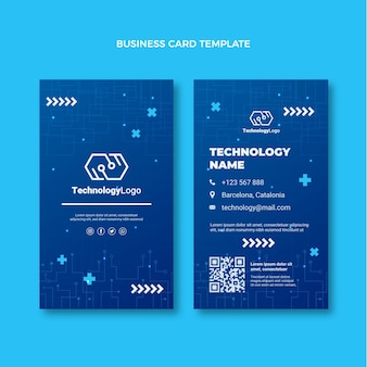 Minimal technology vertical business card