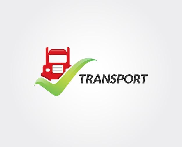 Минимальный транспорт логотип шаблон