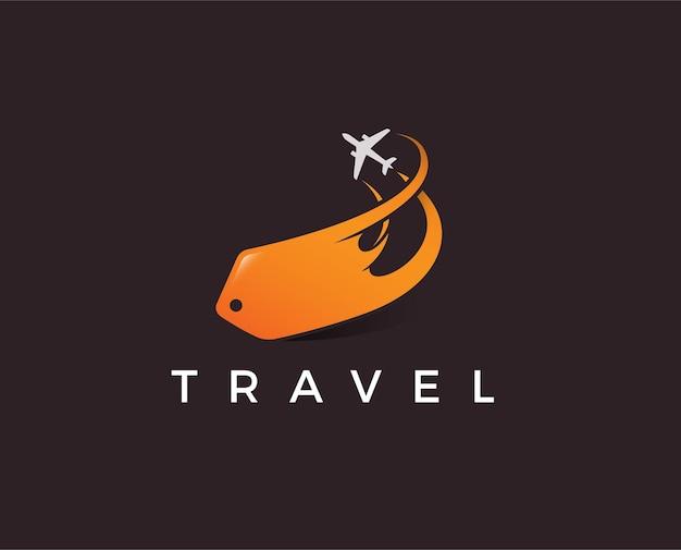 最小限の旅行ロゴテンプレート