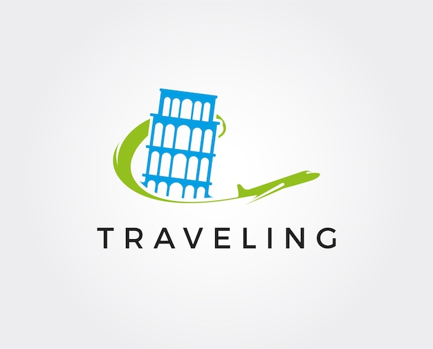 Minimal travel logo template