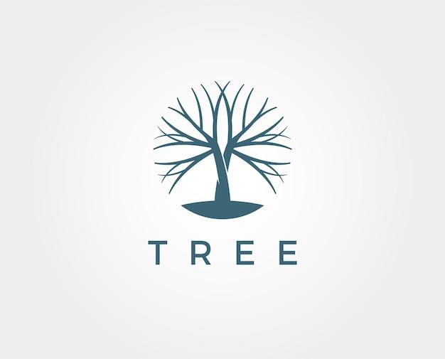 Минимальный шаблон логотипа дерева