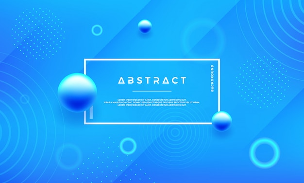 Minimal trendy blue vector background.