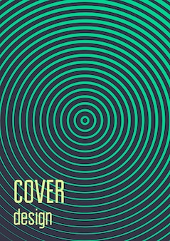 Minimal trendy spiral cover design. geometric minimal cover