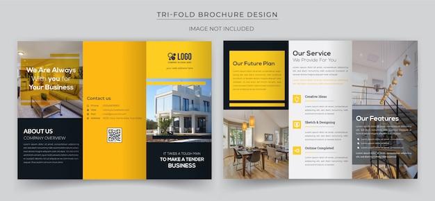Minimal tri-fold brochure