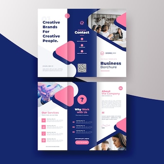 Minimal trifold brochure template concept
