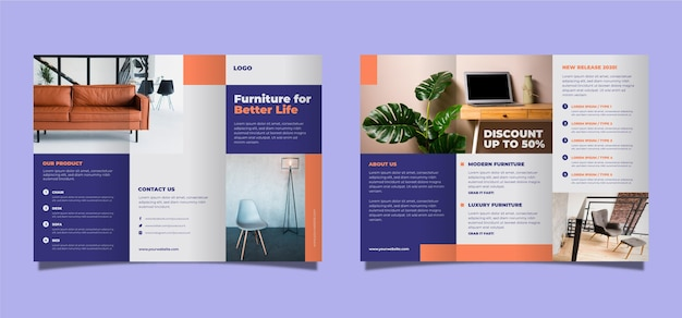 Minimal trifold brochure template theme