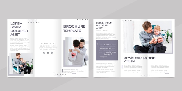 Minimal trifold brochure template