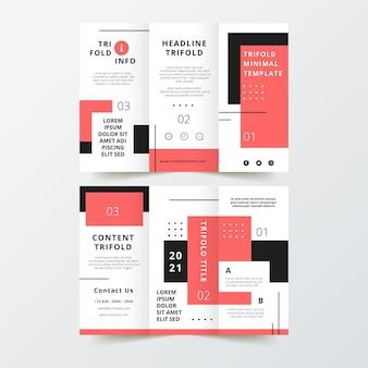 Minimal trifold brochure theme