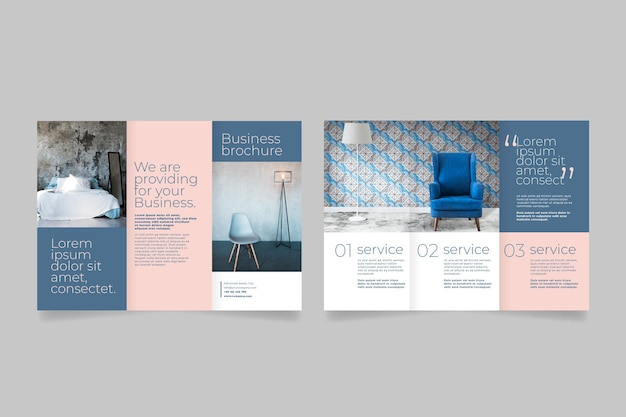 Minimal trifold brochure with photo