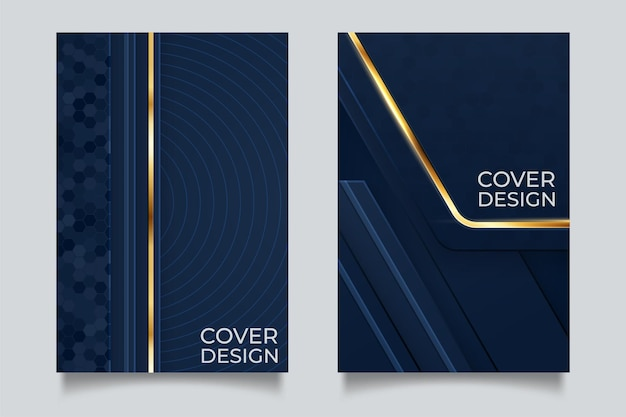 Minimal vector cover design with abstract gradient