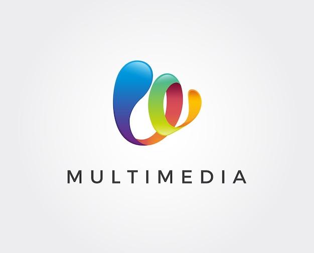Minimal video play logo template