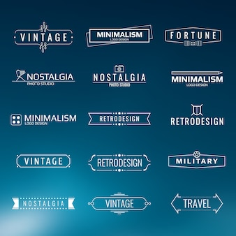 Minimal vintage logo templates. retro style design