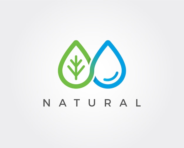 Minimal water drop logo template