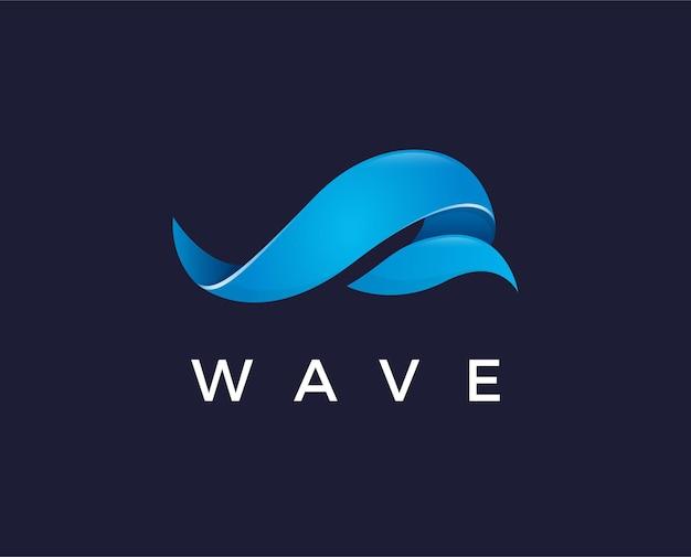 Минимальная волна логотип шаблон векторные иллюстрации