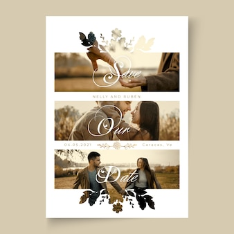 Minimal wedding card conept