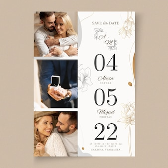 Minimal wedding card template