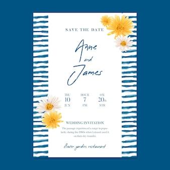 Modello di carta di matrimonio minimo