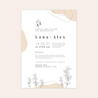 Minimal wedding card template
