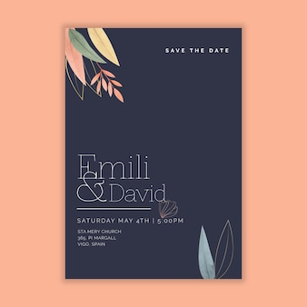 Minimal wedding card theme