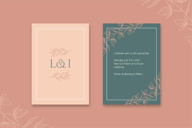 최소한의 웨딩 카드