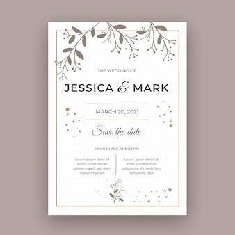 Минимальная свадебная открытка