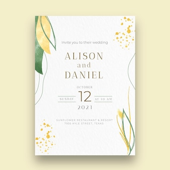 Minimal wedding card