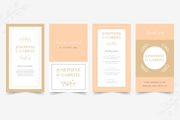 Minimal wedding instagram stories collection