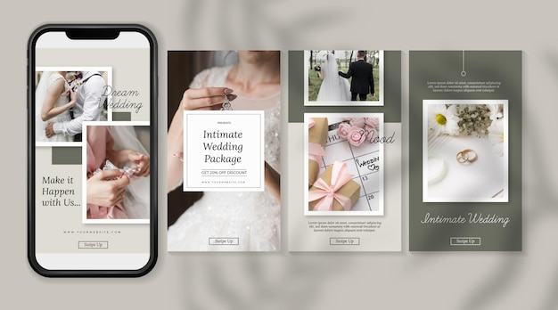 Minimal wedding instagram stories