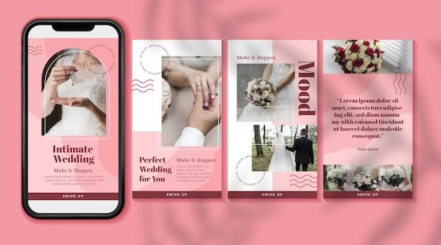 Minimal wedding instagram stories