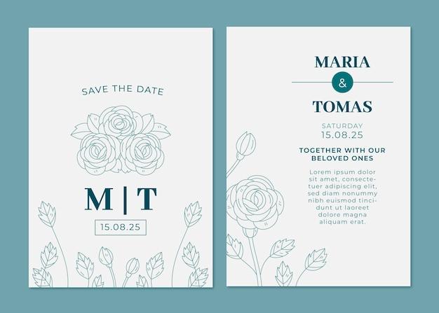 最小限の結婚式の招待状