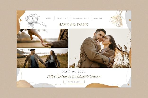 Minimal wedding landing page template