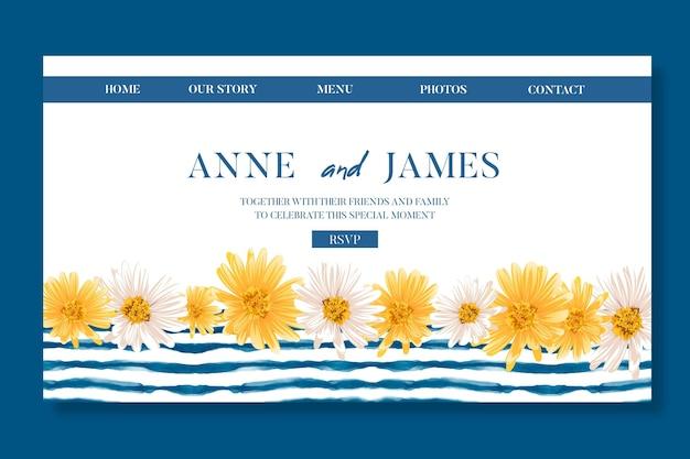 Minimal wedding landing page