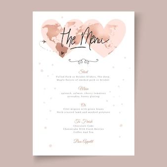 Минимальный шаблон свадебного меню