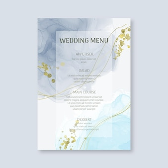 Minimal wedding menu template