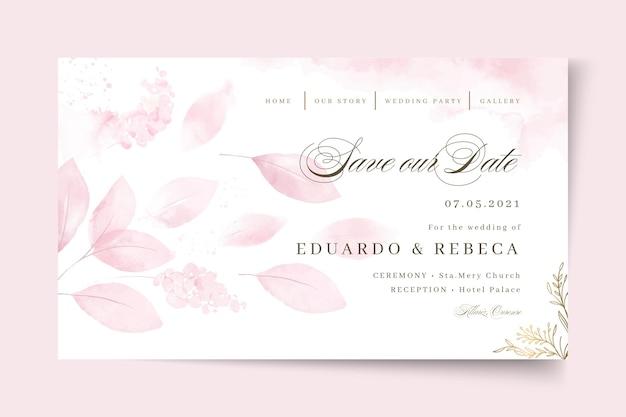 最小限の結婚式は私たちの日付のランディングページを保存します