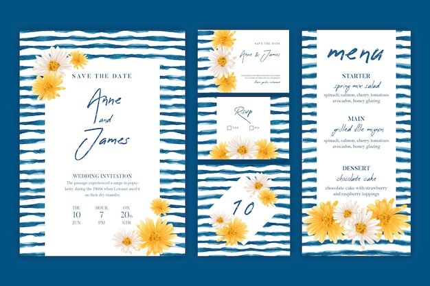 Minimal wedding stationery collection
