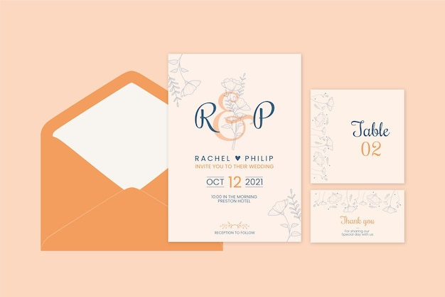 Minimal wedding stationery collection