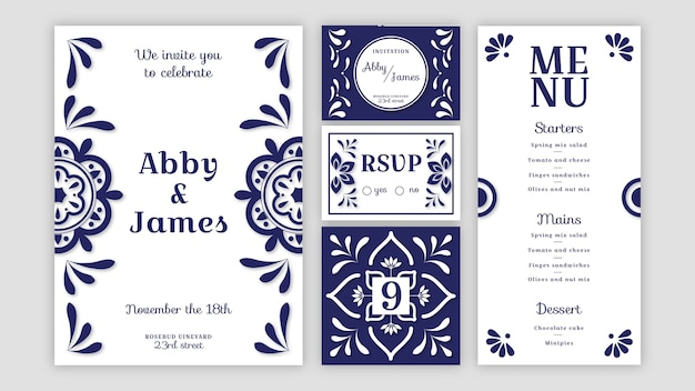 Minimal wedding stationery pack