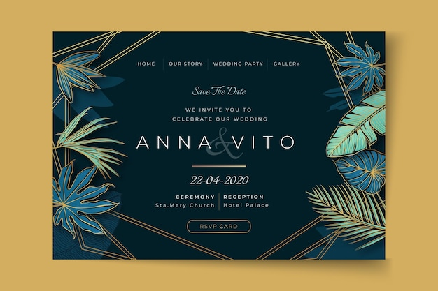 Minimal wedding web template
