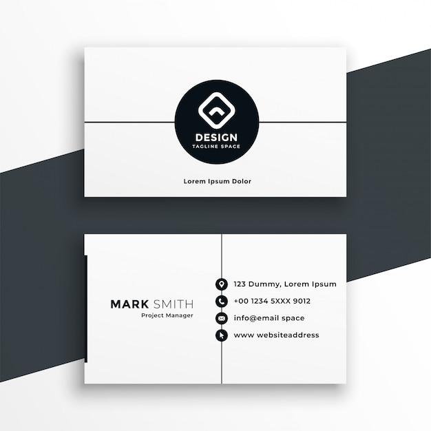 Minimal white business card modern template