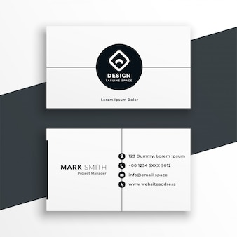 Minimal white business card modern template