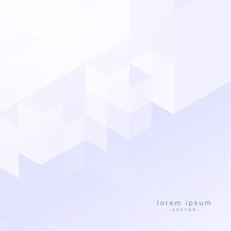 Minimal white geometric background design