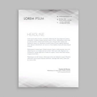 Minimal white letterhead design