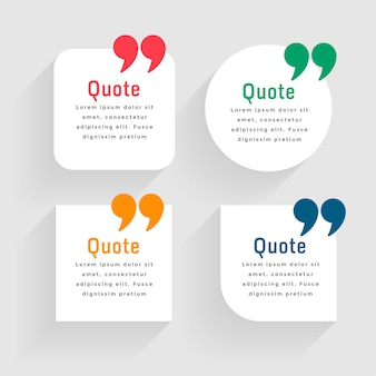 Minimal white quote template in geometric shapes
