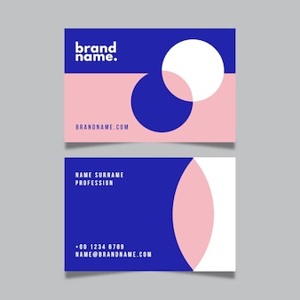 Minimal with circles visit business card