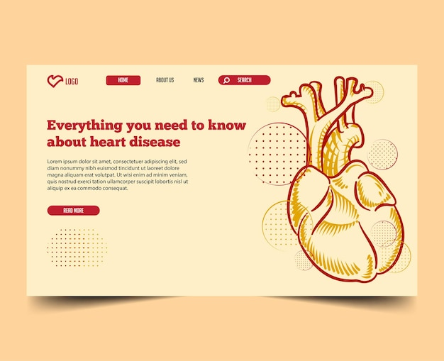 Minimal with illustration landing page web template