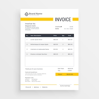 Invoice Vectors Photos And PSD Files Free Download - Free creative invoice template cheap online stores
