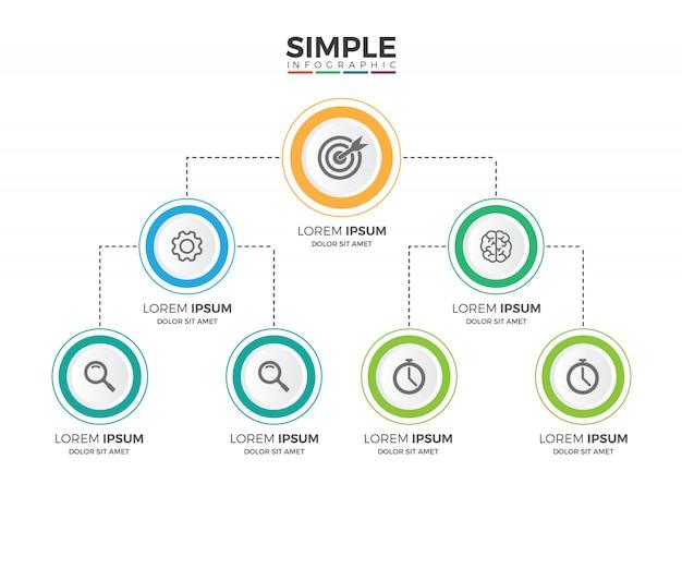 Minimalis corporate organizational structure graphic