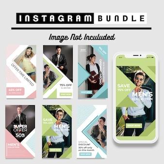 Minimalis instagramのファッションストーリーテンプレート