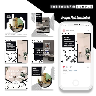 Minimalis instagramファッションポストテンプレート